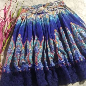 Biographie Diamond Print Midi Skirt Sz S